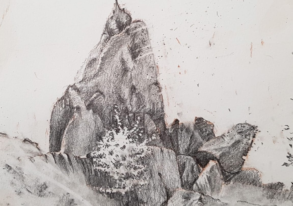 Sitting Stone – detail of drawing (1)